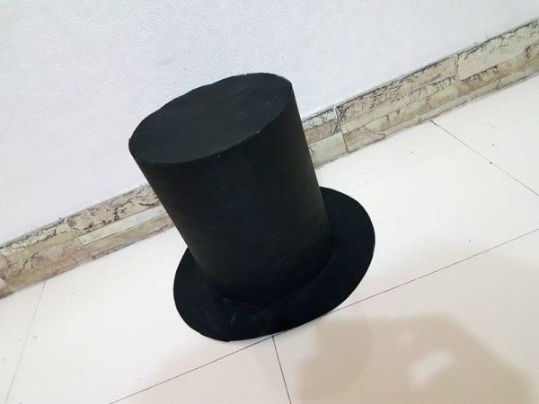 Шляпа цилиндр из бумаги