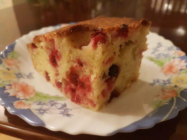 Клюквенный пирог со сливочным сыром