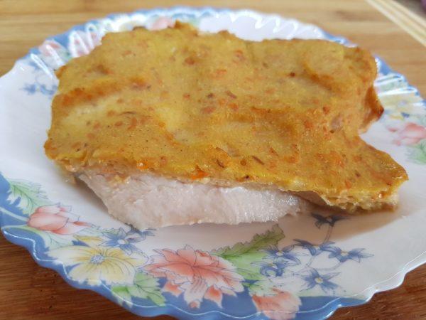 Куриное филе с хурмой в духовке