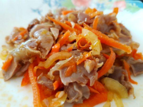 Салат желудочки по-корейски