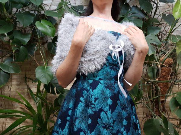 Болеро из травки спицами накидка yarn art rabbit