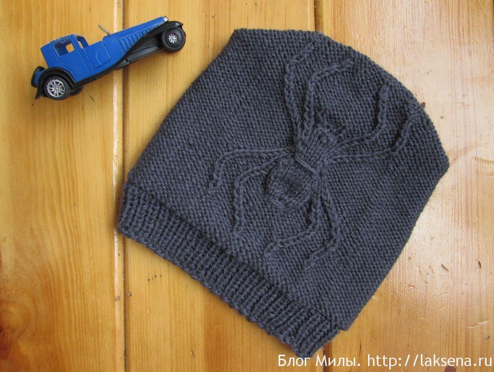 шапка бини с пауком для мальчика блог милы