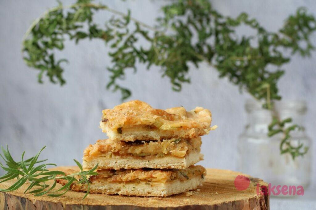 Итальянский пирог с цуккини и сыром