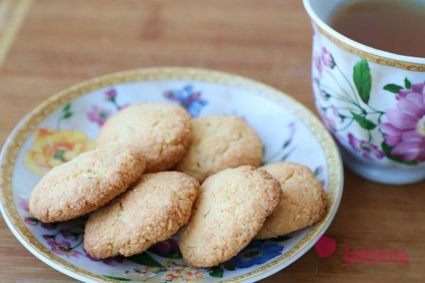 Кокосовое печенье на вареных желтках