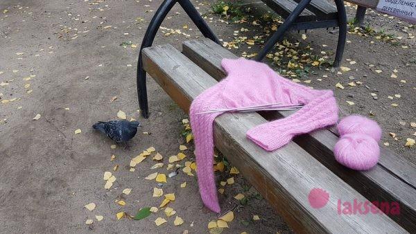 Мохеровый свитер реглан спицами для женщин