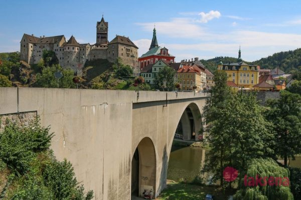 Город Локет Чехия