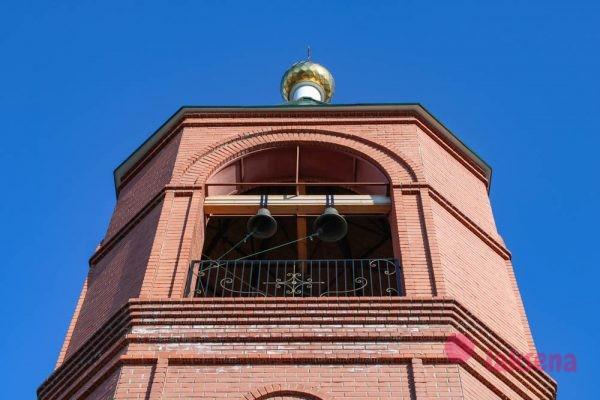 Южноуральск колокольня храма Преображения Господня