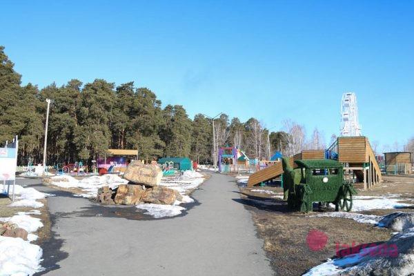 Южноуральск аттракционы в парке