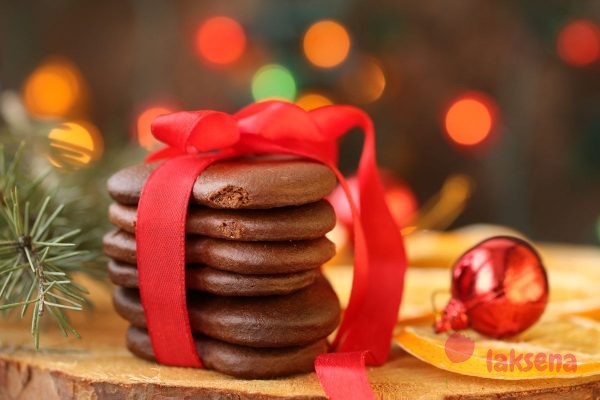Шоколадное постное печенье на соке