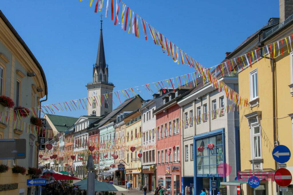 филлах австрия главная площадь Hauptplatz villach